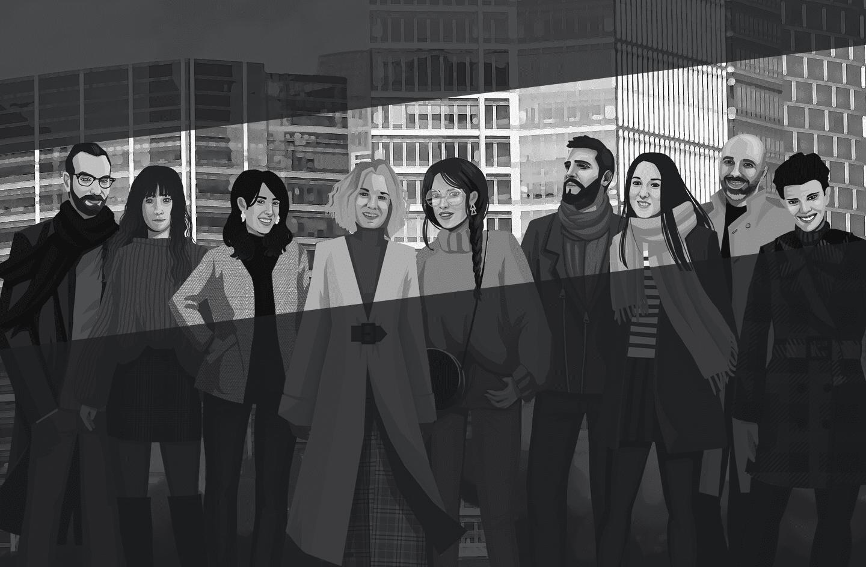 Ilustración del equipo de GaeaPeople