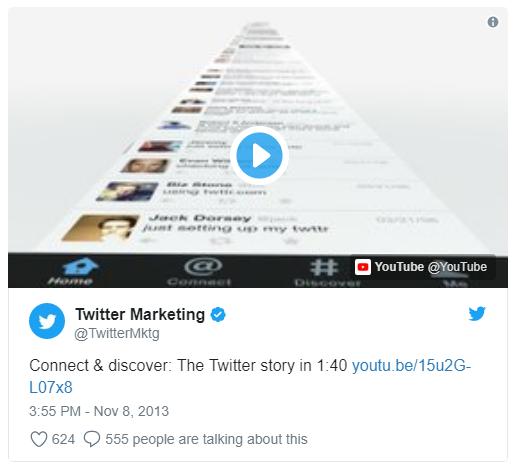 Tarjetas de Twitter para compartir vídeos en los Tweets