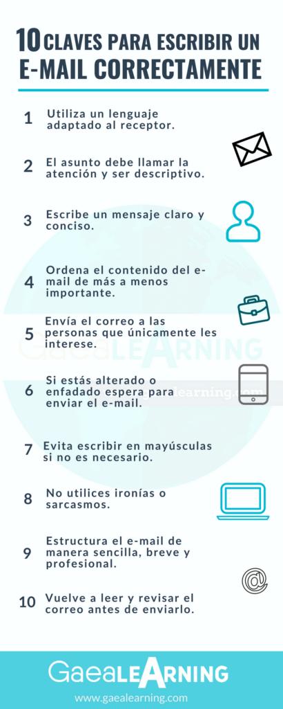 Infografía - 10 claves para escribir un e-mail correctamente