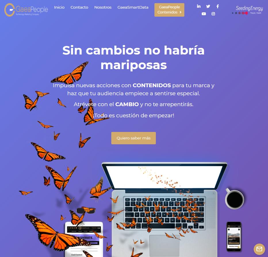 Landing page GaeaPeople: Contneidos,SEO
