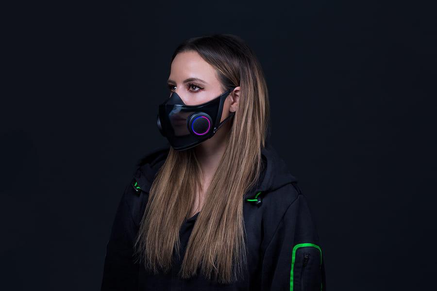 Proyecto hazel de Razer- máscara facial inteligente