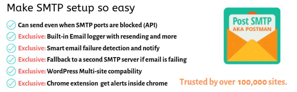 Mailer Post SMTP plugin