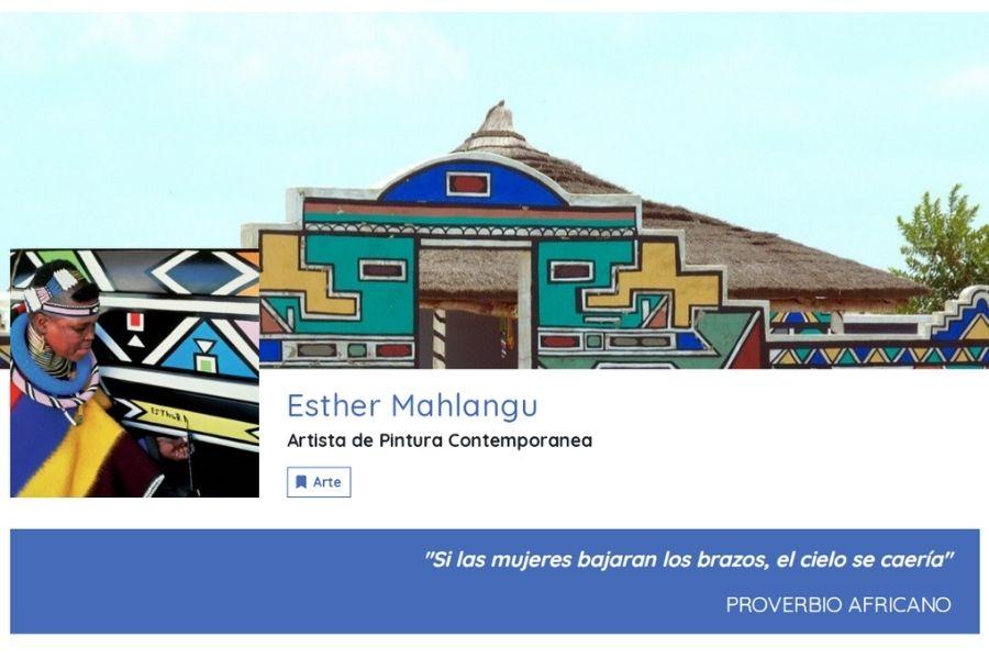 A Propósito De  Esther Mahlangu