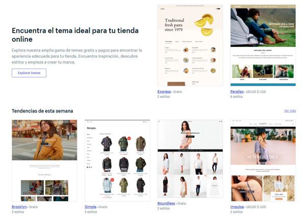 Temas para Shopify
