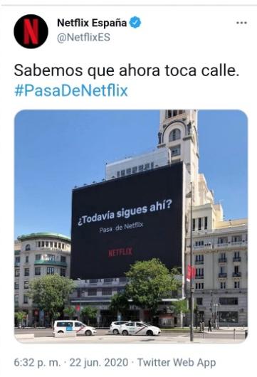 Campaña de publicidad de Netflix