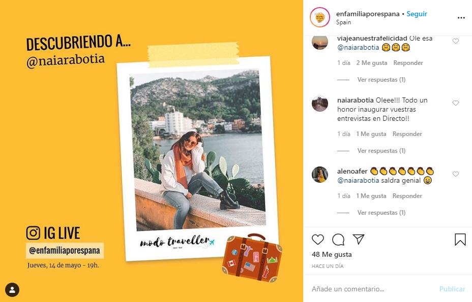 Instagram de #EnFamiliaPorEspaña