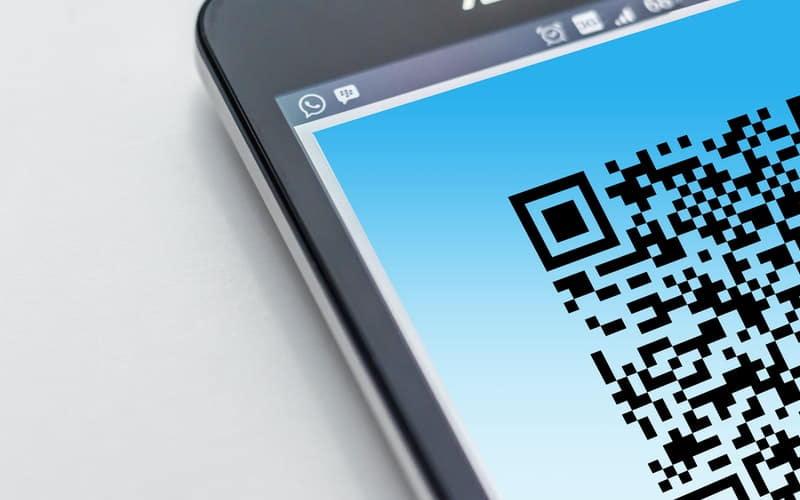 Código QR en la pantalla del Smartphone