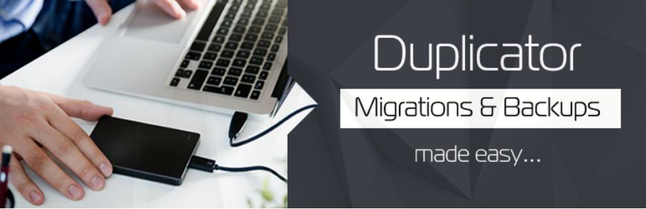 Duplicator, plugin para backups
